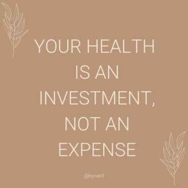 Health is an Investment