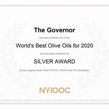 World best olive oils for 2020 – Silver Award