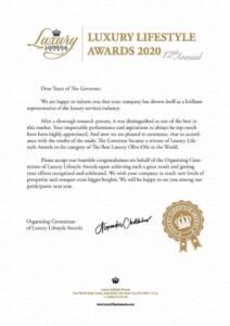 Awards for luxury lifestyle